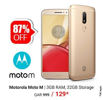 Motorola Moto M smartphone 3GB RAM, 32GB Storage only @ QAR 129/-