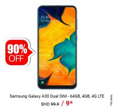 Samsung Galaxy A30 Dual SIM - 64GB only @ BHD 9/-