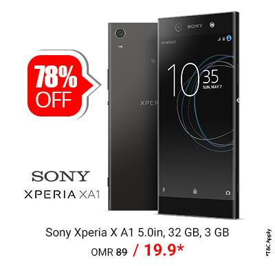 Sony Xperia X A1 4G Smartphone 5.0 Inch, 32GB Only @ OMR 19.900/-