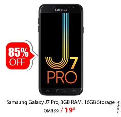 Samsung Galaxy J7 Pro Smartphone, 4G, Android 7.1, 5.5 Inch Display, 16GB Storage and 3GB RAM