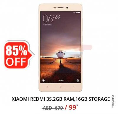 Xiaomi Redmi 3S, Android, 5 inch Display, 2GB RAM, 16GB Storage, Fingerprint Sensor, Dual SIM, Dual Camera- Silver