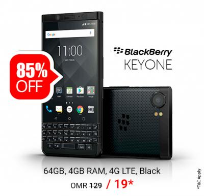 BlackBerry Keyone Limited Edition Dual SIM - 64GB, 4GB RAM, 4G LTE, Black