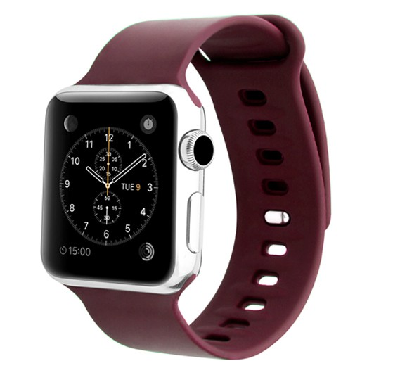 Promate Rarity-42SM Silicone Sport Band, Maroon