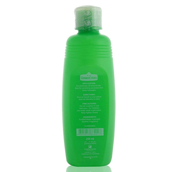 Green Cross Isopropyl Alcohol 40% Solution Antibacterial Sanitizer - 250 ml, HC1907