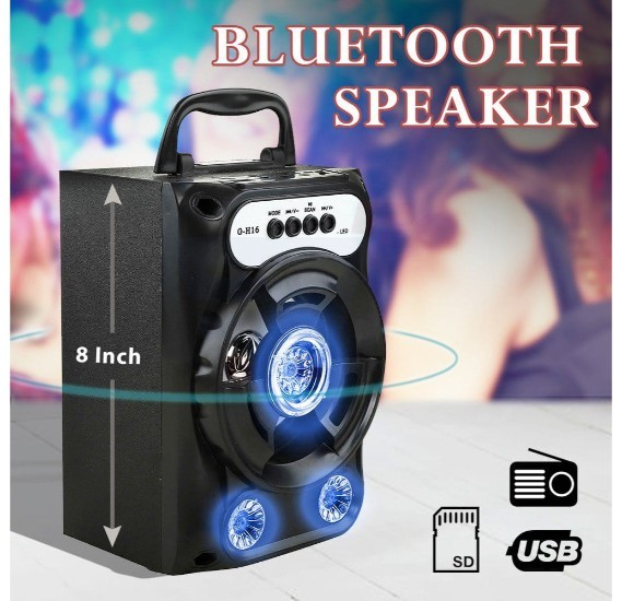 Portable Wireless Bluetooth Speaker With Micro SD, Flash drive & AUX Suppor - G-H16