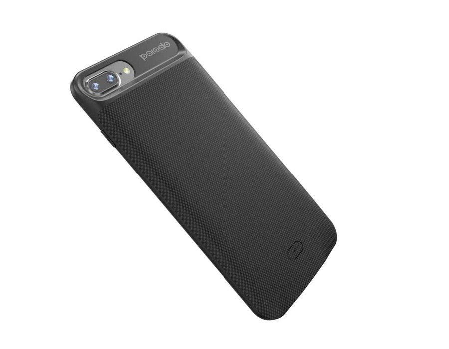 Porodo Power Case 3650Mah for iPhone 8/7 Plus-Black