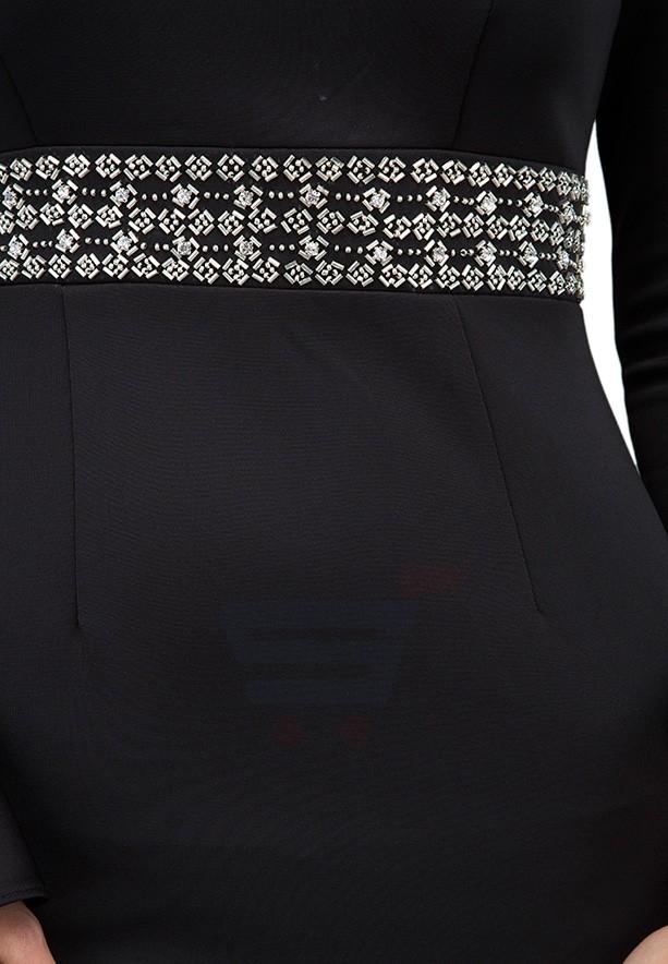 TFNC London Zeta Midi Formal Dress Black - CTT 49370 - L