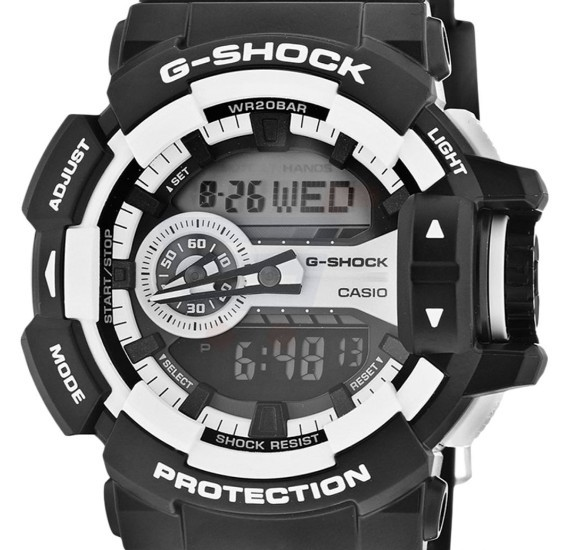Casio G-Shock Resin Band Watch For Men - GA-400-1A