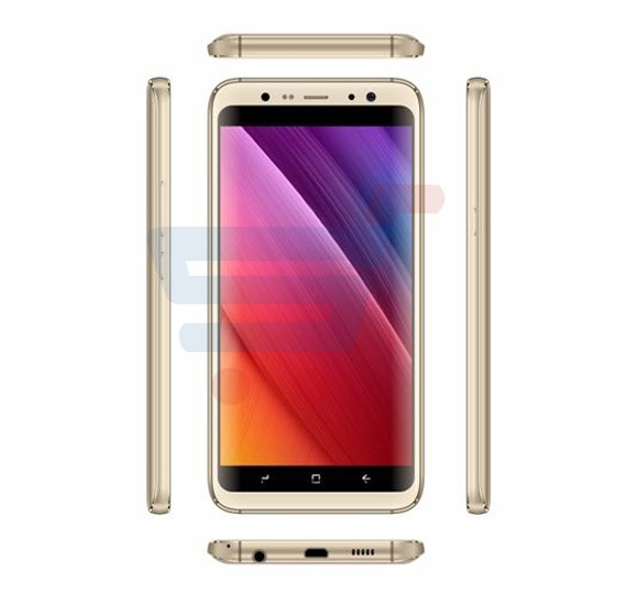 Gmango S8+ Smartphone 4G LTE, Android 6.0, 5.6 Inch HD Display, 2GB RAM, 16GB Storage, Dual Camera, Dual Sim- Gold
