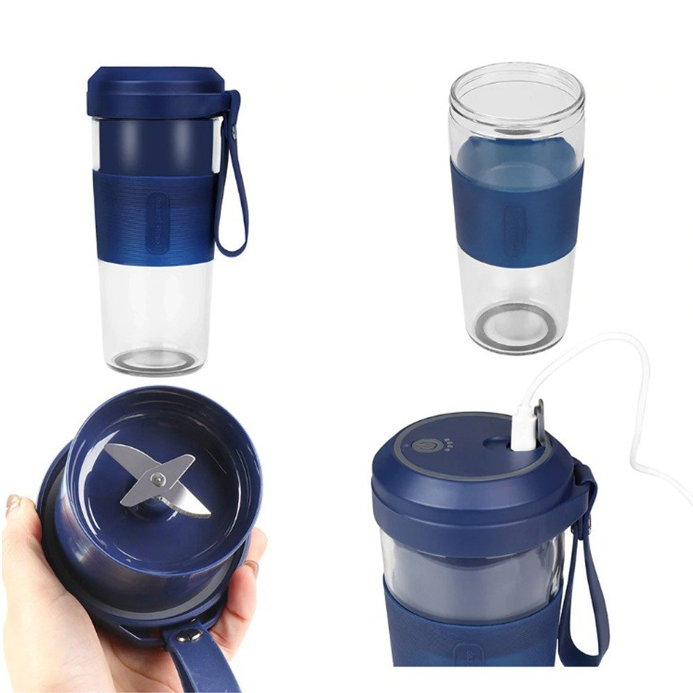 Portable Juicer 350ml Machine Rechargeable Electric Juice Cup