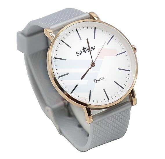 Stellar Luxury Quality Quartz  Watch for Women And Men Grey-ST103