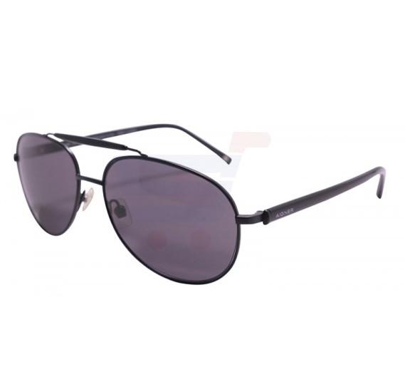 Aigner Aviator Black Frame & Black Mirrored Sunglasses For Unisex - AI-SM-03A-COL1