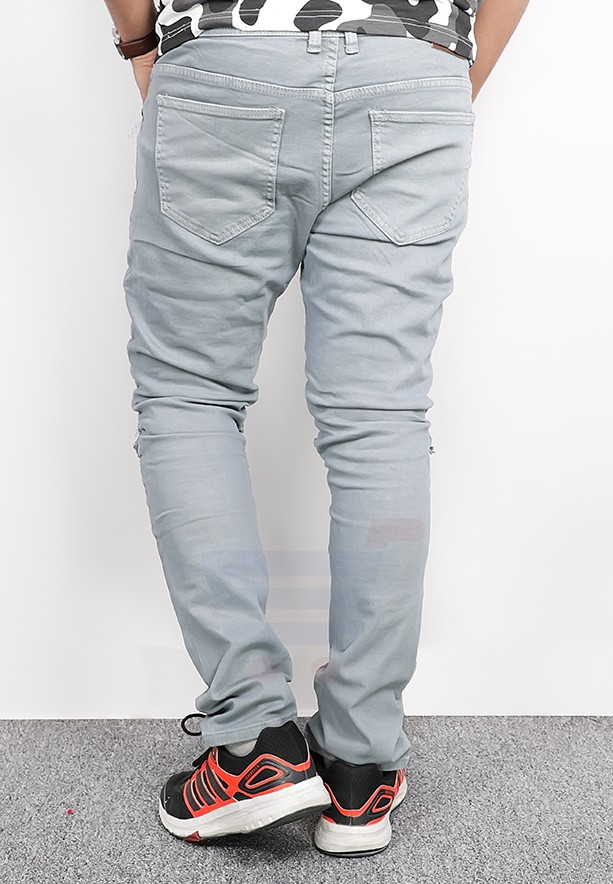 Catch Mens Denim Casual Pant Grey - RT701 - 32