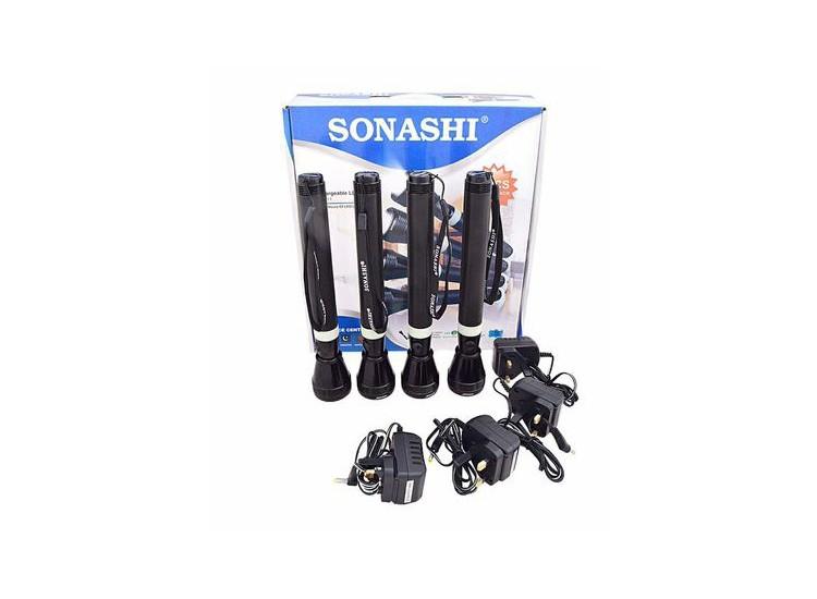Sonashi SLT-2511 Rech Led Torch, 4pcs Combo Pack