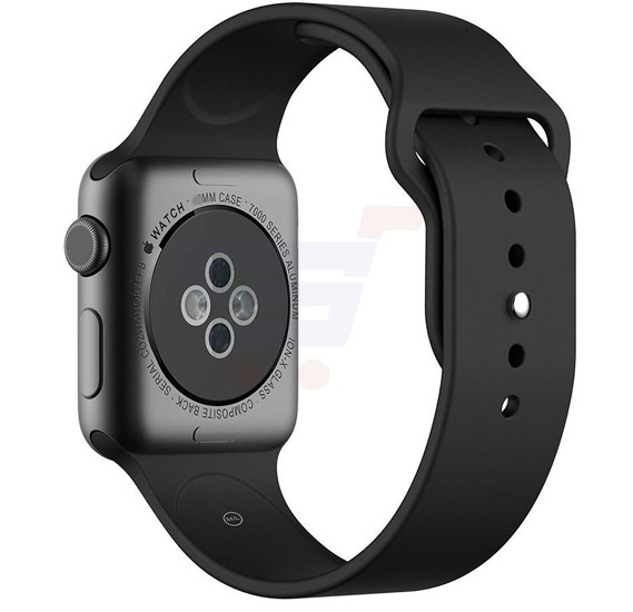 Silicone Sport Replacement Watch Band For Apple Watch 42MM Dark Black