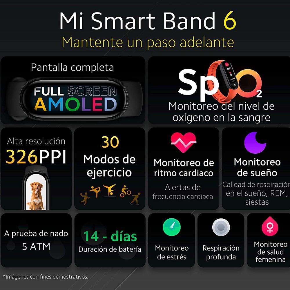 Xioami Mi Smart Band 6 Sports Smart Bracelet Amoled Display, Black