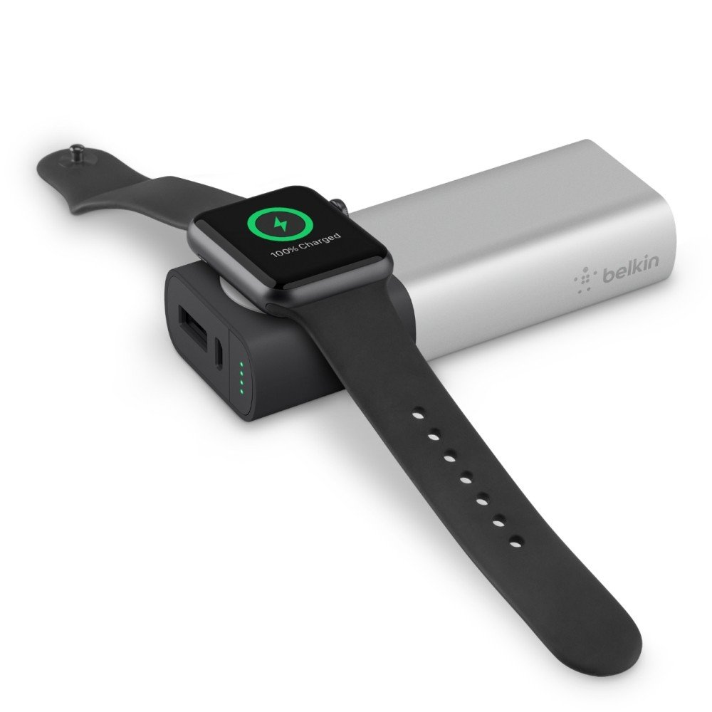 Belkin Valet Charger Power Pack 6700mAh for Apple Watch and iPhones, F8J201btSLV