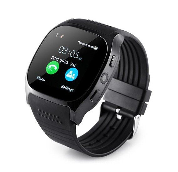 T8 Sporty Bluetooth Smart Watch Phone with Camera , memory card and sim card slot