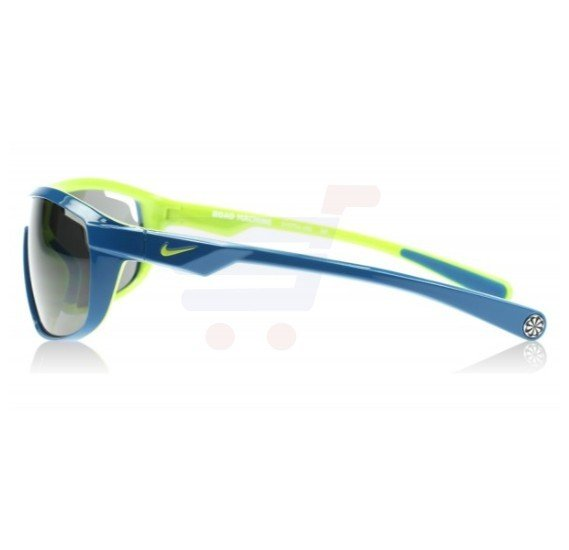Nike Rectangular Military Blue / Venom Green Frame & Grey Mirrored Sunglasses For Unisex - EVO704493-310