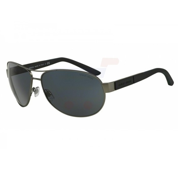 Giorgio Armani Aviator Matte Gunmetal Gray Frame & Grey Mirrored Frames For Unisex - 0AR6025-308987