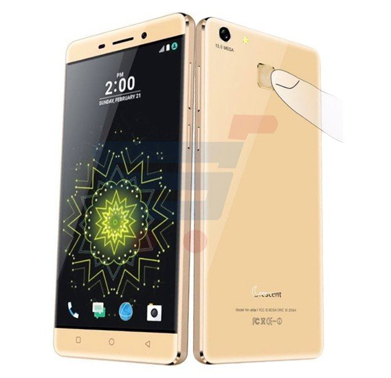 Crescent Elite 1 Smartphone, 4G With Fingerprint Touch,Android 6,5.5 Inch HD LCD Display,2GB RAM,8GB Storage,Dual SIM,Dual Camera,Octa Core 1.5GHz Processor with 32GB Memory card-Gold