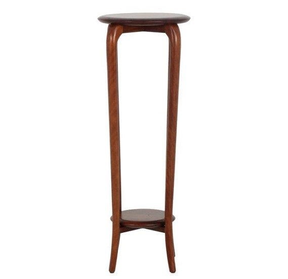 Stories Darcy Small Phone Table With Mahogany Wood Finish STR14034