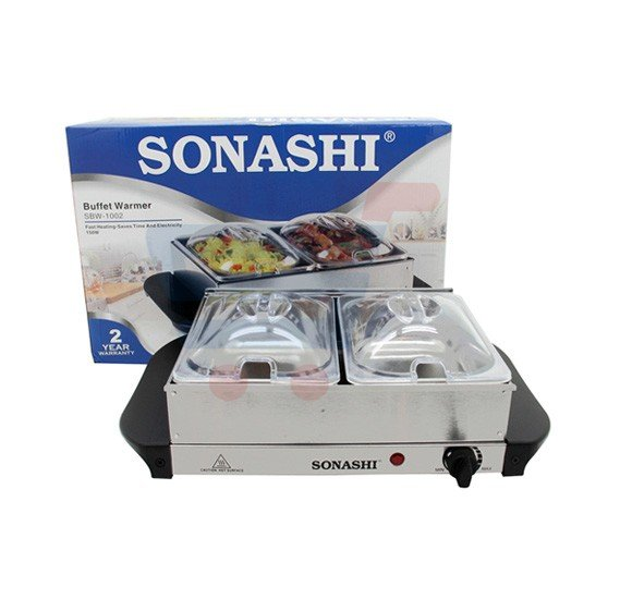 Sonashi 2 Tray Buffet Warmer SBW-1002