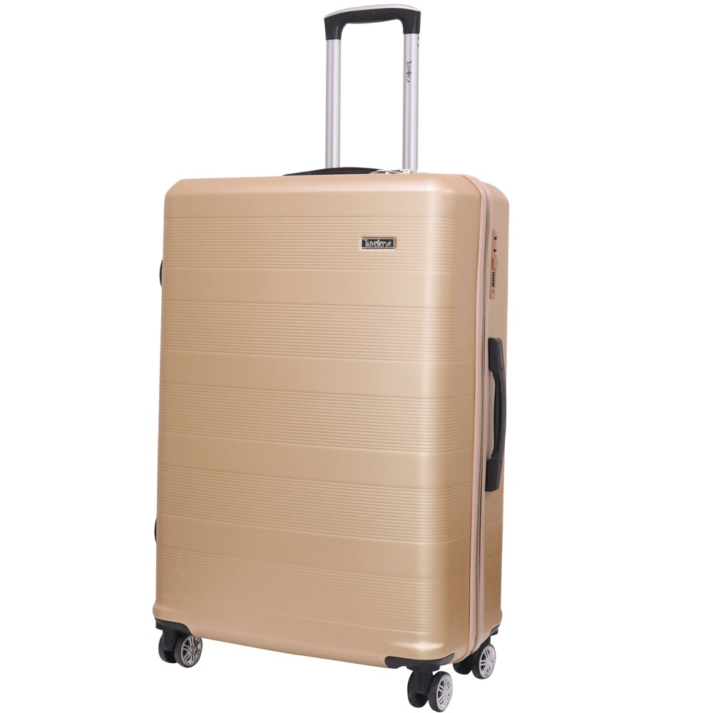 Traveller ABS 4 Wheel Premium Luggage Trolley 3pcs Set, Pink, TR-3300