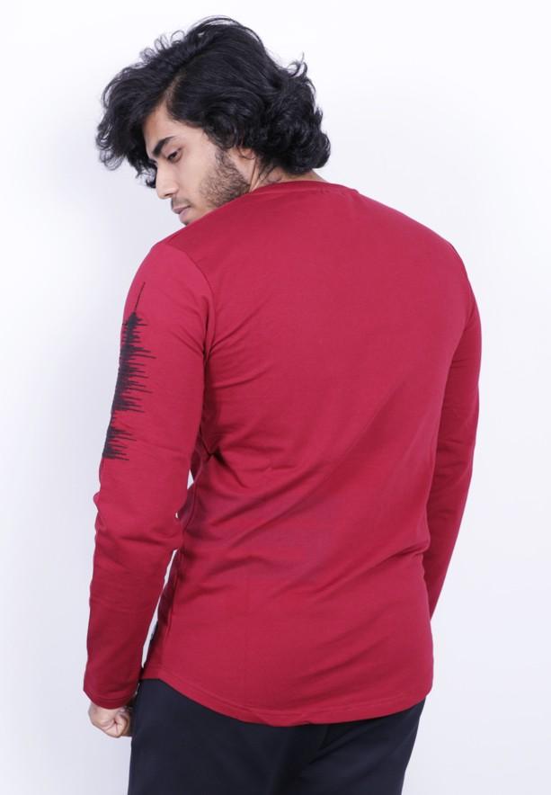Saw Mens Full Sleeve Tshirt Red - 1013 - M