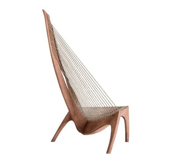 Stories Pugad Easy Chair With Solid Ash Wood Frame STR14241