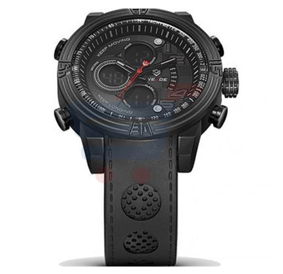 Weide Reloj De Acero Inoxidable Black De Alta Cali dad A Prueba De Agua - 5209