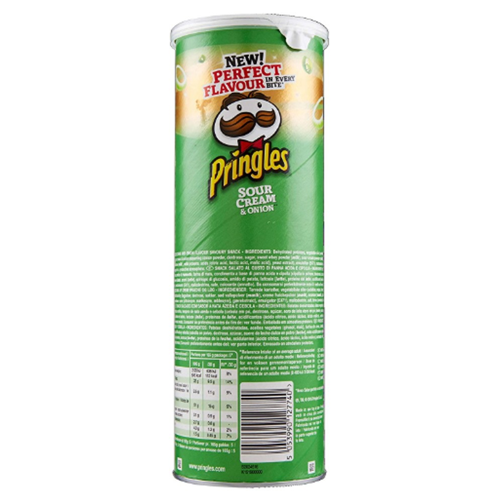 Pringles Sour Cream & Onion Flavored Chips 165 gram Can, 70075