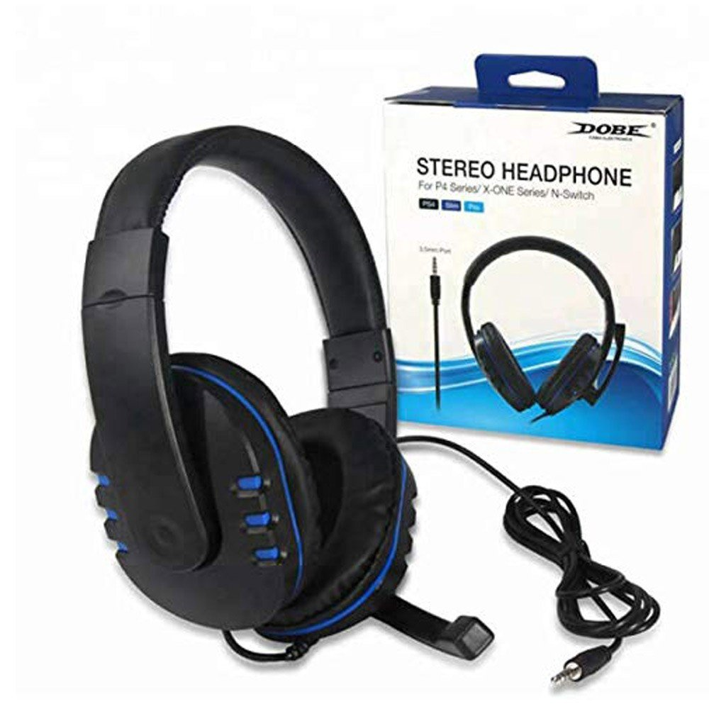 Dobe Gaming Headset Stereo Wired Headphones Over Ear Headphones Universal with Microphone for Sony PS4/Xbox One / Nintendo Switch /PC 3.5 MM Jack