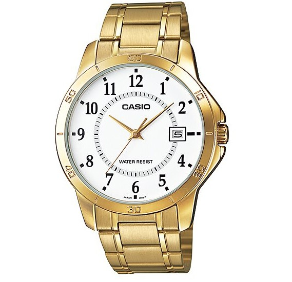 Casio Enticer MTP-V004G-7BUDF Analog Stainless Steel Gents Wrist Watch