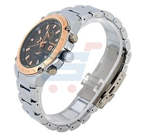 Curren Stainless Steel With Calendar Mens Watch, -M 8042