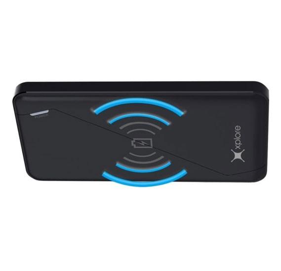 Xplore XP-P59K Wireless Charging Power Bank, Black
