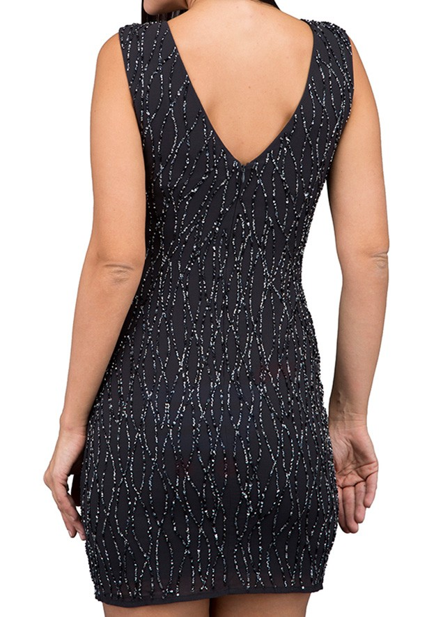 TFNC London Dorothe Sequin Party Dress Grey - ANQ 43570 - L