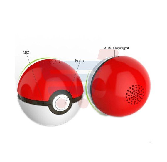 Pokemon Go Speaker Pokeball Portable Speaker ZN7515, Mini Super Bass Portable Wireless Loudspeaker Bluetooth 4.0 Music Speaker