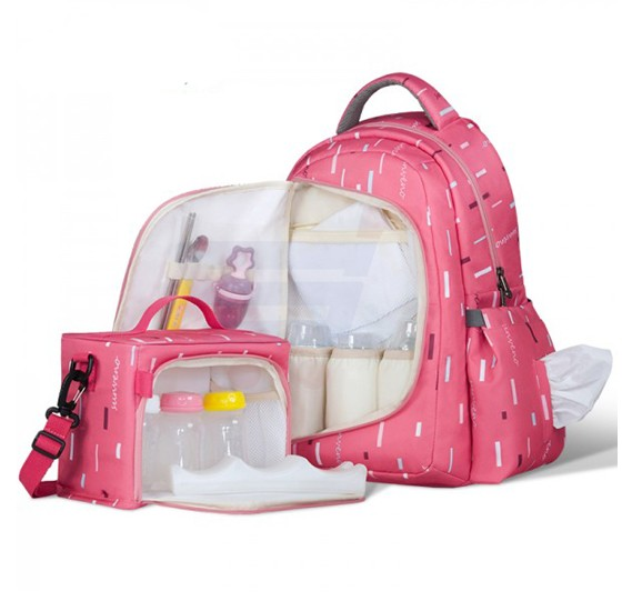 Sunveno 2in1 Diaper Bag Peach