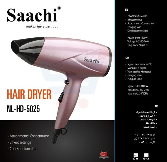 Saachi Hair Dryer NL-HD-5025