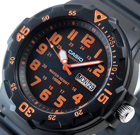 Casio Analog Watch For Men, Black Resin Band-MRW-200H-4B