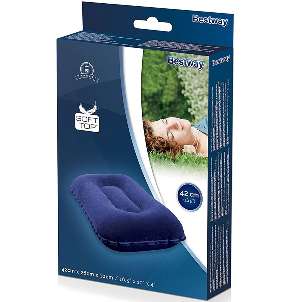 3 in 1 Bestway Outdoor King Airbed, Blue, 67004 191 x 137 x 22 cm with hand pump and 2 Pillows