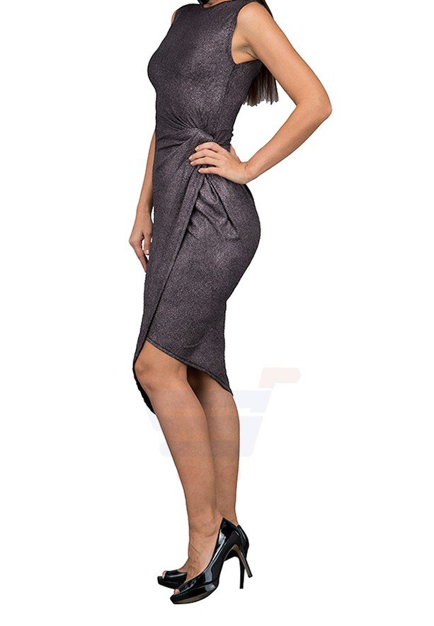 WAL G Italy Knot Tie Formal Dress Silver - WG 4184 - L