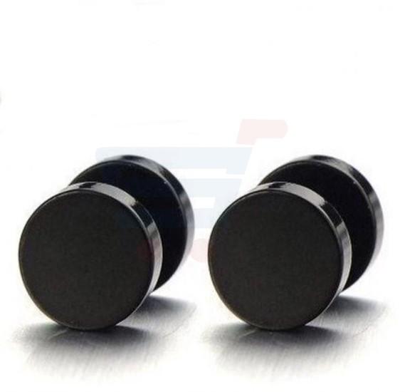 Barbell Stainless Steel 10MM Stud Earring For Unisex