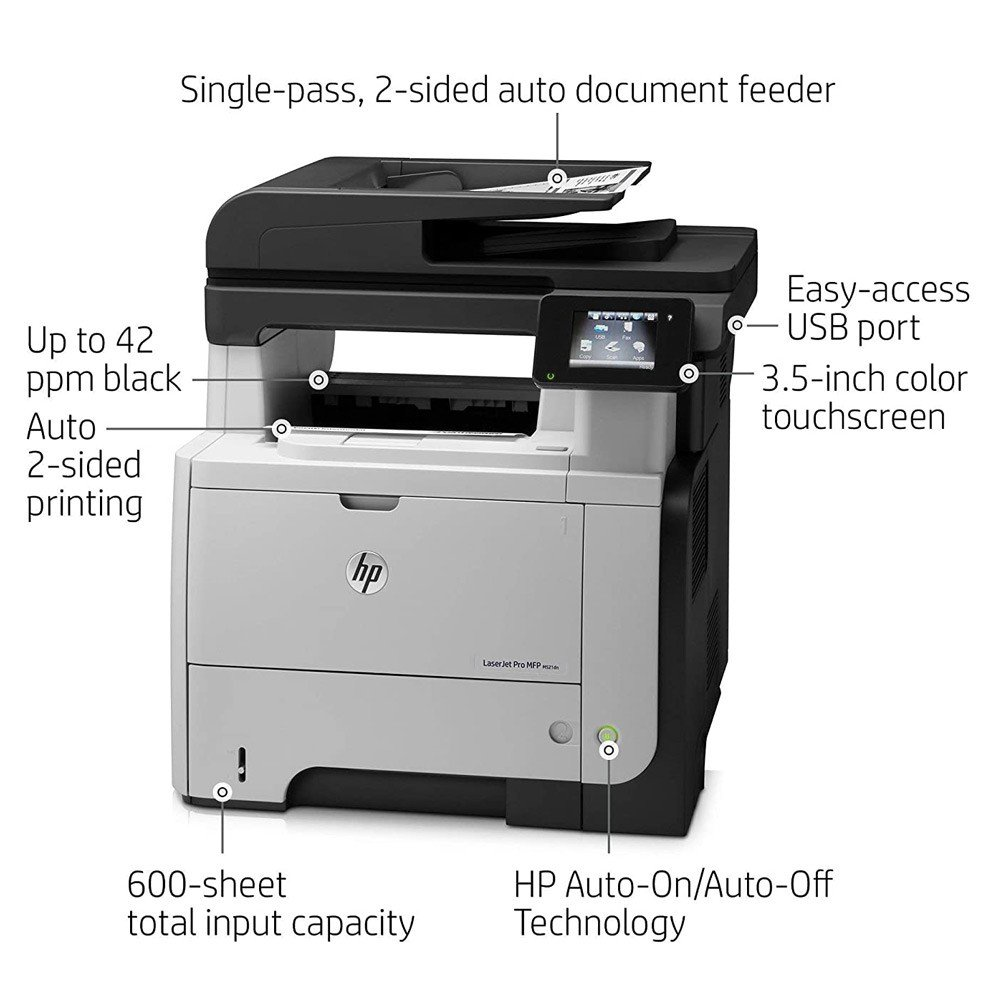 HP LaserJet Pro 500 MFP M521dn All-in-One Printer