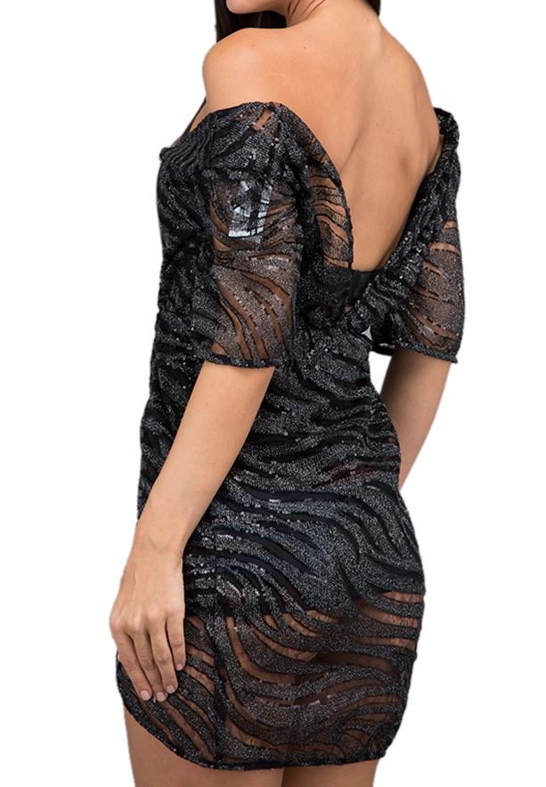 TFNC London Gin Party Dress Black - EB 12285 - M