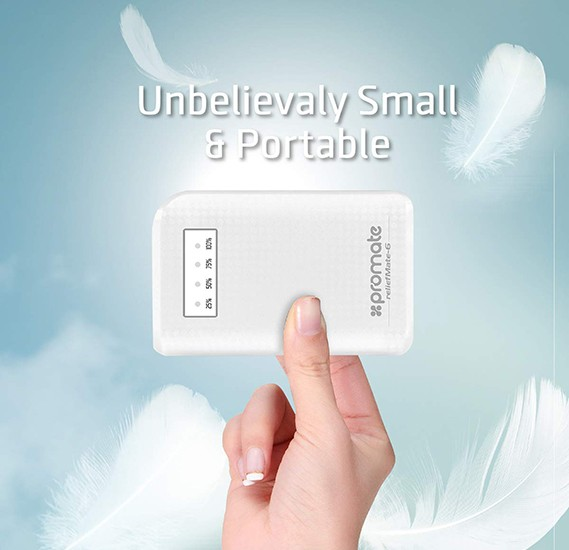 Promate 6000mAh Compact Universal Power Bank for Smartphones Reliefmate-6 White