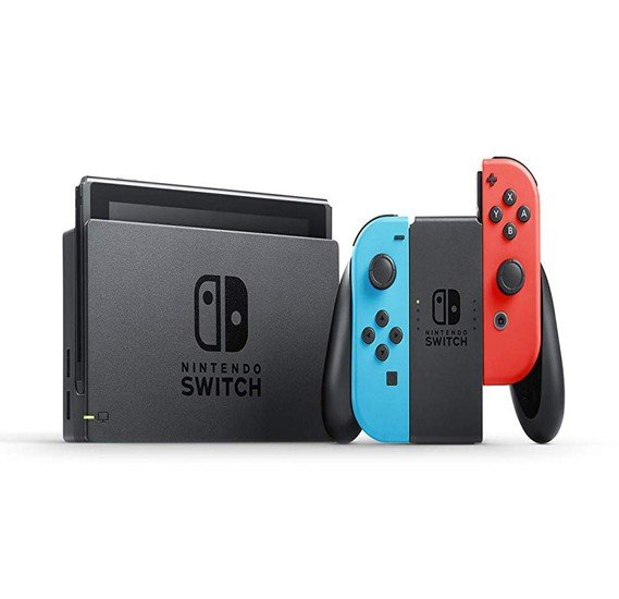 Nintendo Switch with Neon Blue and Neon Red-Tra - Nintendo switch Neon-Tra