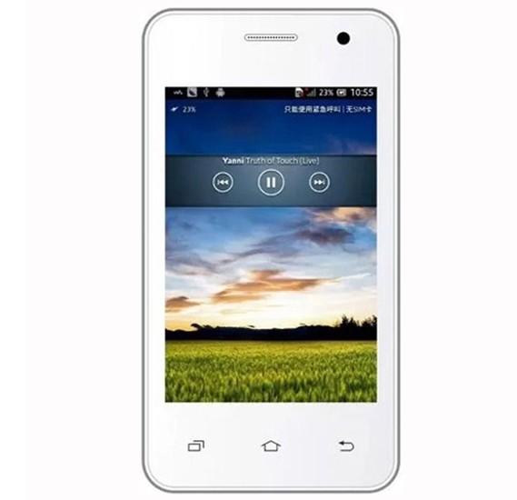 karbonn A51 3G Smartphone, Android, 3.5 Inch HD Display, 1GB RAM, 4GB Storage, Dual Camera, Dual Sim- White