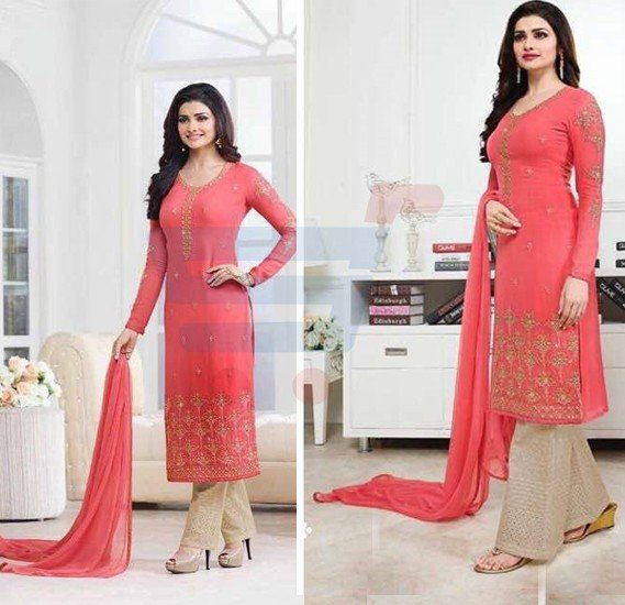 Kaseesh Prachi 5016 Georgette With Embroidery Dress Material